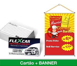 1.500 CARTÕES DE VISITA + 1 BANNER 80x50