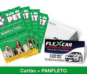 1.500 CARTÕES DE VISITA + 1.000 Panfletos