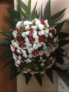 Coroas de flores médias