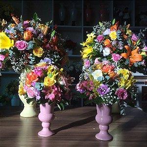 Arranjo de flores coloridas modelo 6