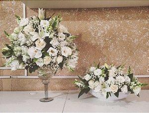 Arranjo de Flores Brancas modelo 9