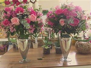 Arranjo com flores Cor-de-rosa Modelo 1
