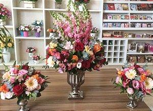 Arranjo com Flores cor-de-rosa modelo 5