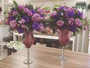 Arranjos com Flores Roxas/Lilás modelo 1