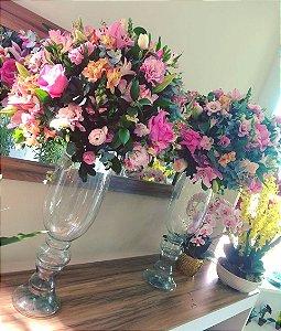 Arranjo com Flores cor-de-rosa modelo 6