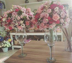 Arranjo com Flores cor-de-rosa modelo 9