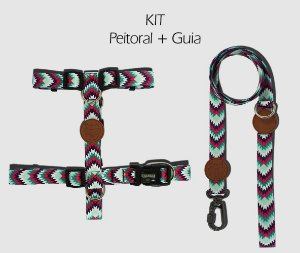 KIT Peitoral e Guia - Nina - CoolDog