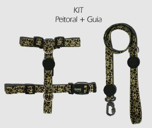KIT Peitoral e Guia - Skull - CoolDog