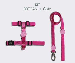 KIT Peitoral e Guia - PINK - CoolDog