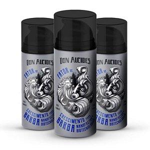 Kit 3 Fatores de Crescimento para Barba Don Alcides - 30g