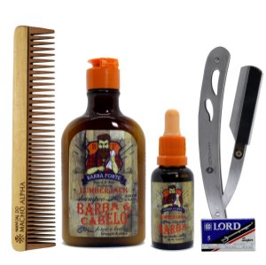 Kit Barba Forte Lumberjack cuidado completo com a barba