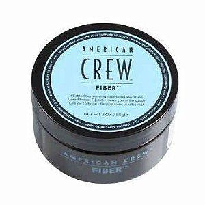 Fiber American Crew - Cera modeladora de cabelos alta fixação - 85g