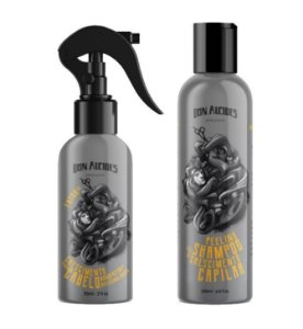 Kit Fator de Crescimento Capilar TÔNICO + PEELING Pré Shampoo - Don Alcides