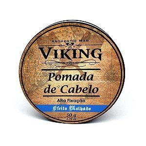 Pomada de cabelo Efeito Brilho Alta Fixação - Viking - 50g