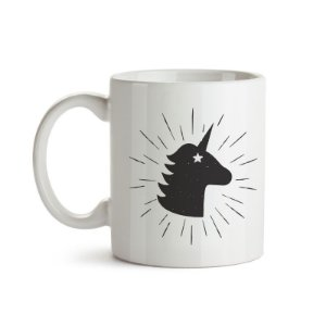 CANECA MAGIC UNICORN B&W