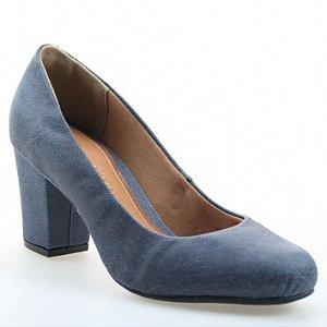Scarpin Salto Bloco D'Moon 86041 Jeans