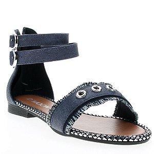 Sandália Rasteira D'Moon 80346 Jeans