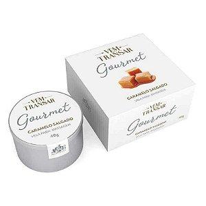 Vela beijável gourmet para massagem com sabor de caramelo salgado Vem Transar