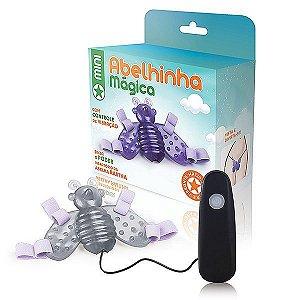 Vibrador mini abelhinha mágica com 12 variações de velocidade