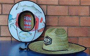 Chapéu de Palha Bamboo Penn Raíba - Logo Preto