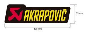 Adesivo Akrapovic 120X35MM
