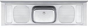 Pia Stratta de apoio em aço inox 200x55 cm - Tramontina