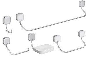 Kit de Acessório para banheiro Pix c/ 5 peças - Deca