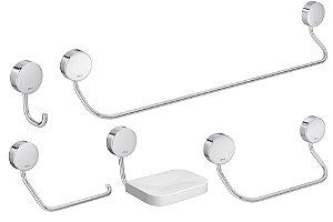 Kit de Acessório para banheiro Net c/ 5 peças - Deca