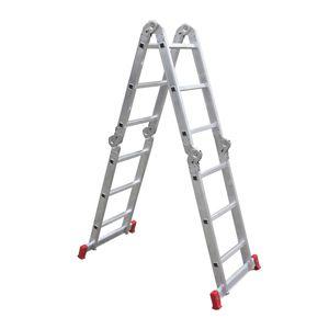 Escada articulada em alumínio 4x4 degraus - Botafogo