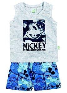 Conjunto masculino bermuda e camiseta regata - Mickey - Brandili