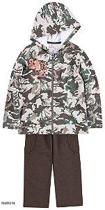 Conjunto masculino de inverno jaqueta e calça em moletom - Brandili