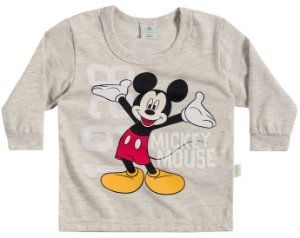 Camiseta Masculina Manga Longa -  Mickey - Brandili