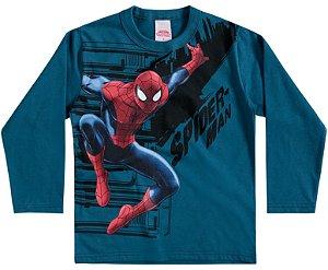 Camiseta Masculina Manga longa - Homem Aranha - Brandili