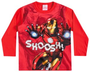 Camiseta Masculina Manga longa - Homem de Ferro - Brandili