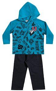 Conjunto masculino  Blusão e calça em moletom - Brandili