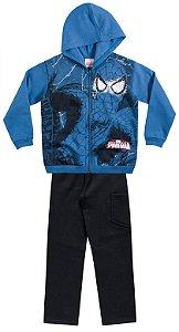 Conjunto masculino  jaqueta e calça em moletom - Homem Aranha -  Brandili
