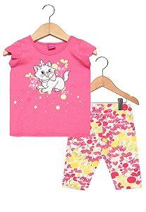 Conjunto Feminino calça e blusa de manga curta - Marie - Brandili