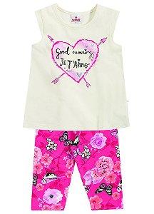 Conjunto Feminino calça e camiseta - Brandili