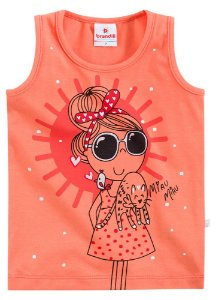 Camiseta feminina sem manga - Brandili