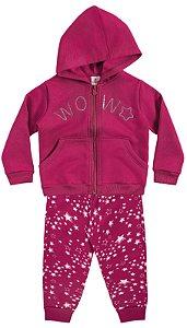 Conjunto Feminino  em moletom - calça e jaqueta - Brandili