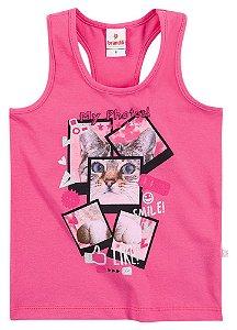 Camiseta feminina estampada - Brandili