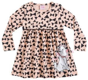 Vestido infantil estampado manga longa - Marie - Brandili