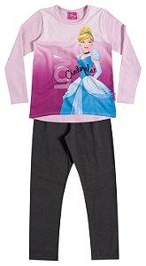 Conjunto Feminino calça e blusa de manga longa - Cinderela - Brandili