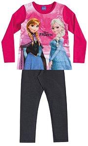 Conjunto Feminino  em moletom calça e blusa de manga longa - Frozen - Brandili
