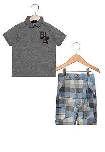 Conjunto masculino bermuda e camiseta polo - Brandili Mundi
