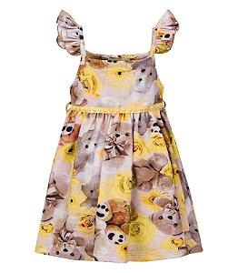 Vestido infantil estampado - Trick Nick