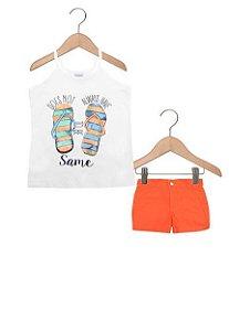 Conjunto feminino estampado camiseta e short - Rovitex