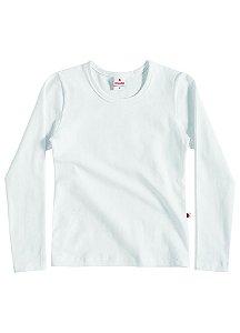 Blusa feminina manga longa branca - Brandili