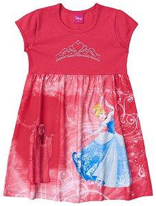 Vestido infantil estampado - Cinderela - Brandili