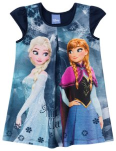 Vestido infantil estampado - Frozen - Brandili